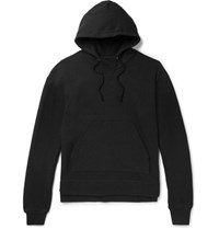 John Elliott Kake Mock Fleece Back Jersey Hoodie Black
