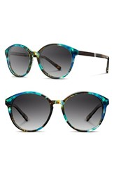 Women's Shwood 'Bailey' 53Mm Polarized Sunglasses Blue Opal Ebony Grey Polar