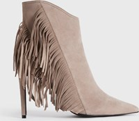 Allsaints Izzy Suede Boots Taupe