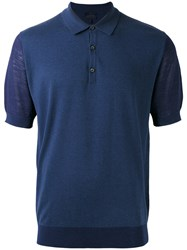 Lanvin Knitted Polo Shirt Blue