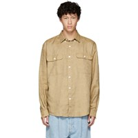 Schnayderman's Brown Linen Oversized Shirt