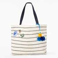 Star Mela Tami Large Tote Bag Ecru Navy