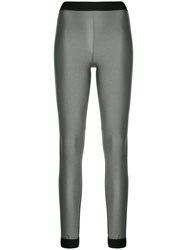 No Ka' Oi Contrast Panel Sports Leggings Grey