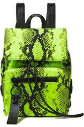 Off White Whitetm Woman Snake Print Leather Backpack Black