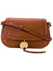 See By Chloe Cross Body Bag Women Cotton Calf Leather One Size Brown