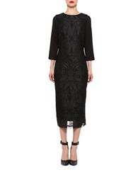 Alexia Admor Embroidered Sheath Dress Black