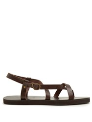 Ancient Greek Sandals Ambrosios Leather Brown
