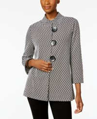 Jm Collection Printed Jacket Only At Macy's Black Geo Combo