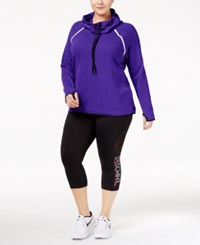Ideology Plus Size Cowl Neck Top Only At Macy's Blazing Purple