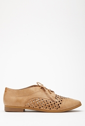 Forever 21 Faux Leather Chevron Cutout Oxfords