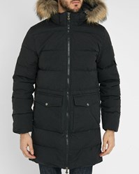 Pyrenex Black Authentic Pr Long Waterproof Removable Fur Down Jacket