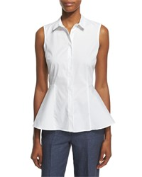 Peserico Sleeveless Stretch Cotton Peplum Top Women's