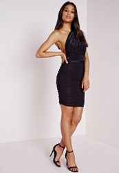 Missguided Do It Any Way Multiway Slinky Bodycon Dress Black