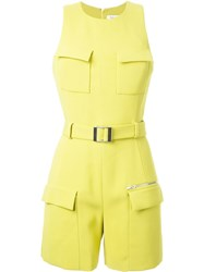 Thierry Mugler Mugler Belted Playsuit Yellow And Orange