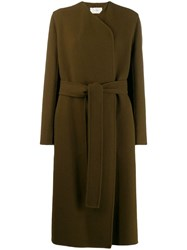 The Row Long Belted Coat Brown