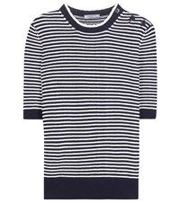 Nina Ricci Striped Cotton Sweater