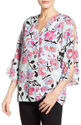 Chaus Women's Flowerscape Split Sleeve Blouse
