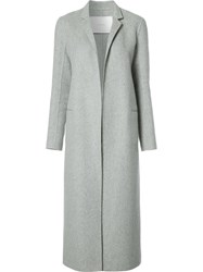 Adam By Adam Lippes Long Cashmere Coat Grey