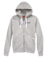 Superdry Men's Orange Label Zipper Hoodie Grey Marl