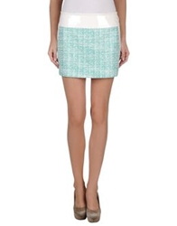 Fay Mini Skirts Light Green