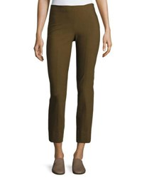 Vince Stitch Front Seamed Leggings Dark Willow