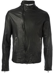 Emporio Armani Zip Up Biker Jacket Black