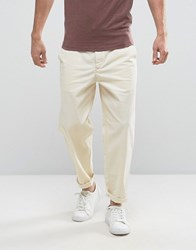 Selected Homme Chino In Wide Leg Winter White