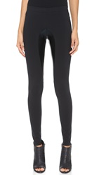 Norma Kamali Riding Pant Leggings Black Black Foil