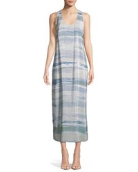 Nic Zoe Watercolor Silk Blend Maxi Dress Multi