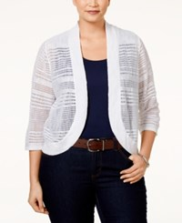 Alfani Plus Size Bolero Cardigan Only At Macy's Bright White