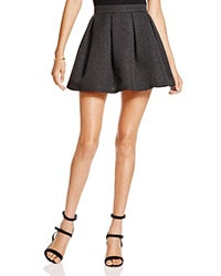 Aqua Metallic Dot Party Skirt Black