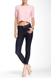 Level 99 Tanya Hi Rise Crop Ultra Skinny Jean Blue
