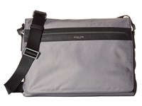 Michael Kors Kent Lightweight Nylon Large Messenger Steel Grey Messenger Bags Gray