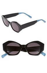 Elizabeth And James Women's Huxley 46Mm Geometric Sunglasses Black Smoke Black Smoke
