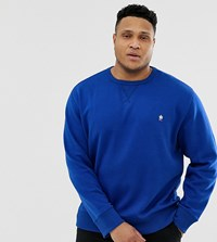 French Connection Plus Crew Neck Logo Sweat Blue