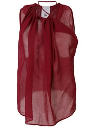 Lost And Found Rooms Draped Tank Top Red