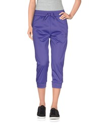 Emporio Armani Ea7 Trousers 3 4 Length Trousers Women Purple