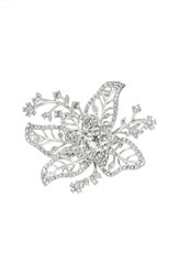Women's Marchesa Crystal Openwork Flower Ring