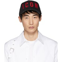 Dsquared2 Black And Red 'Icon' Baseball Cap