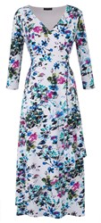 Grace Made In Britain Floral Maxi Dress White