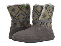 Sanuk Sun Down Chill Charcoal Highlighter Women's Lace Up Boots Gray