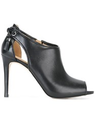 Michael Michael Kors Open Toe Heeled Ankle Boots Black