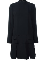 Proenza Schouler Drop Waist Dress Black