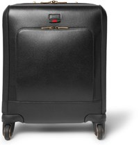 Gucci Textured Leather Wheeled Suitcase Black