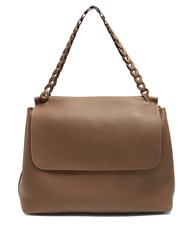 The Row Top Handle 14 Leather Shoulder Bag Khaki