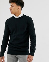 New Look Crew Neck Jumper In Black