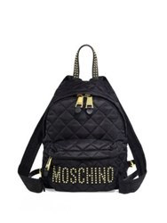 Love Moschino Studded Quilted Backpack Black