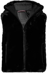 Fusalp Pegase Hooded Faux Fur Vest Black