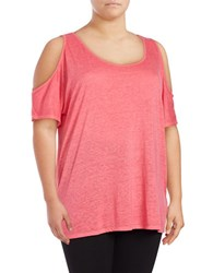 Marc New York Cold Shoulder Performance Top Geranium