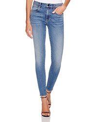T By Alexander Wang Whip Skinny Jeans In Washed Medium Indigo